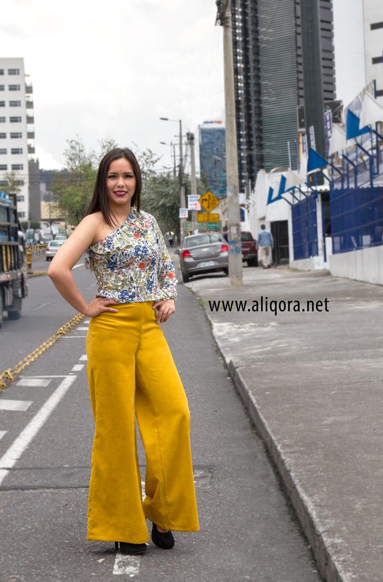 Pantalon Amarillo Mostaza En Pata De Elefante Aliqora Moda